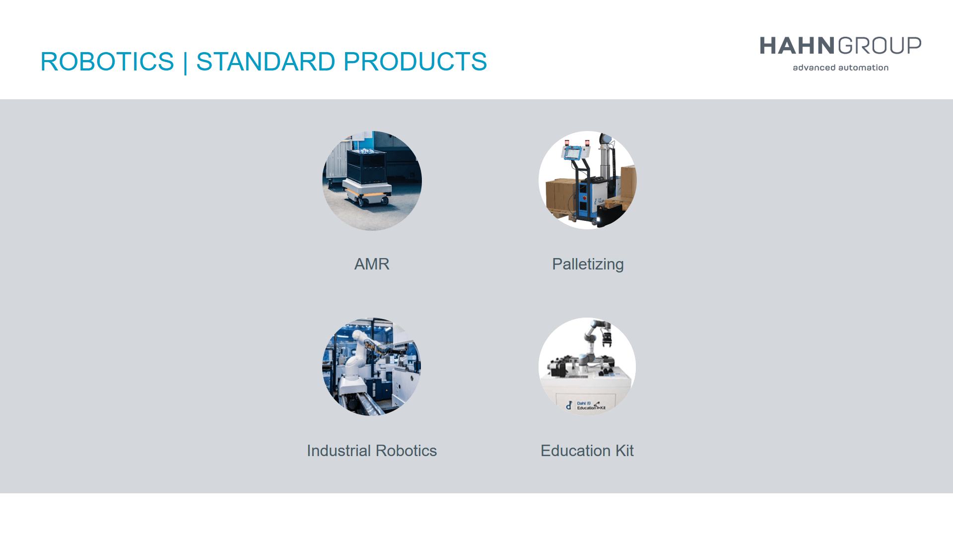 Standard Products of HAHN Group Robotics
