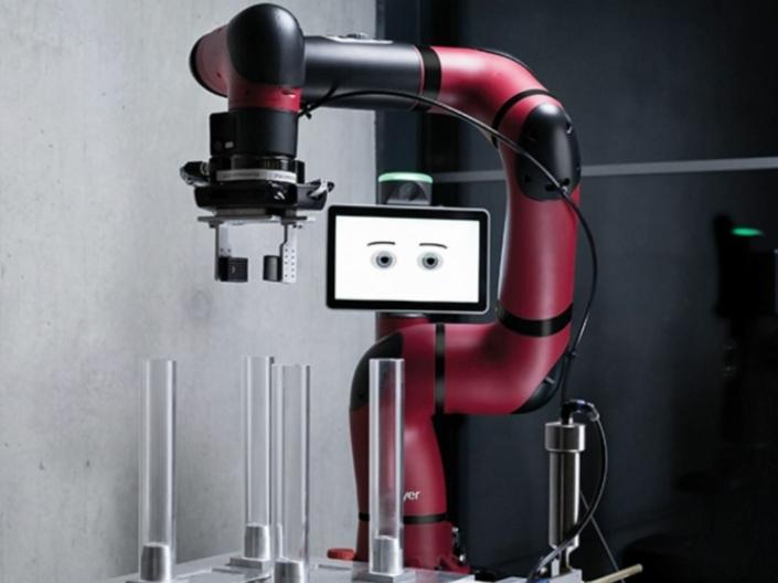 Sawyer BLACK Edition - Ein Cobot des Unternehmens Rethink Robotics | Sawyer BLACK Edition - A cobot of the manufacturer Rethink Robotics